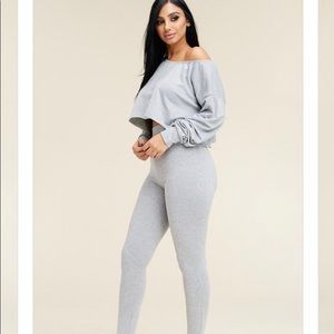 2PC Crop & Legging Set
